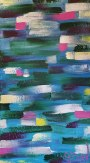 An abstract take on Monet's famous Waterlilies paintings by Janet Bray